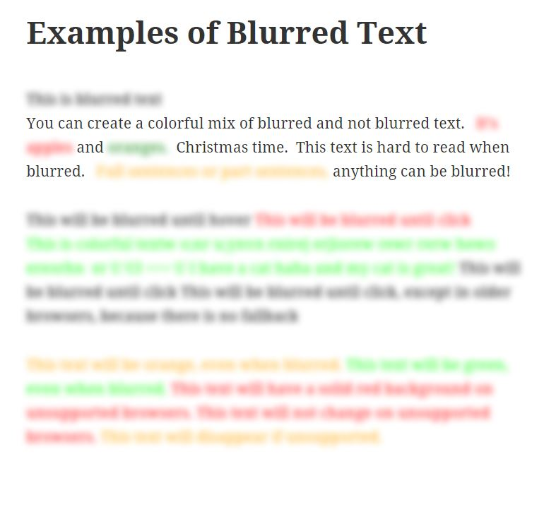Blur Text Screenshot #1