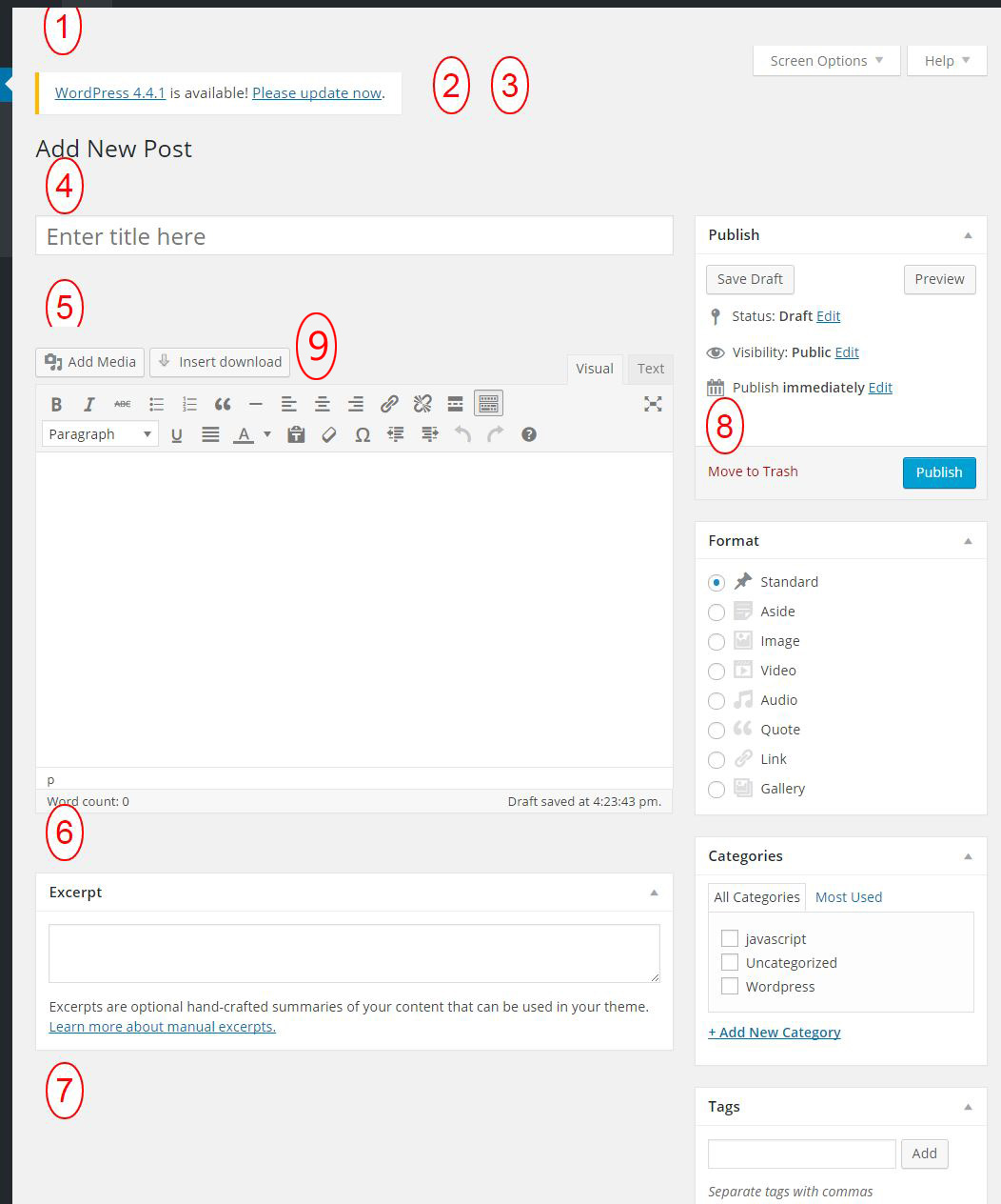 Wordpress Admin Edit Post Screen Hooks