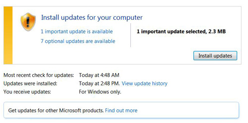 Windows Update Option Missing in Windows 7 (Control Panel Options Missing)