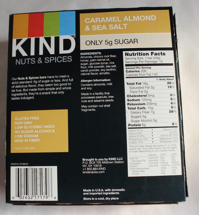Caramel Almond & Sea Salt Kind Bar