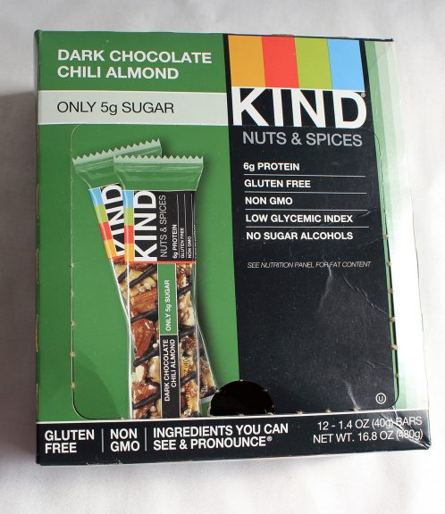 Dark Chocolate Chili Almond Kind Nuts & Spices Bar